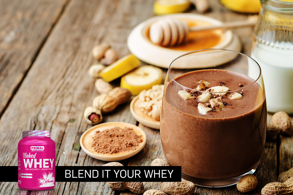naked whey choc smoothie